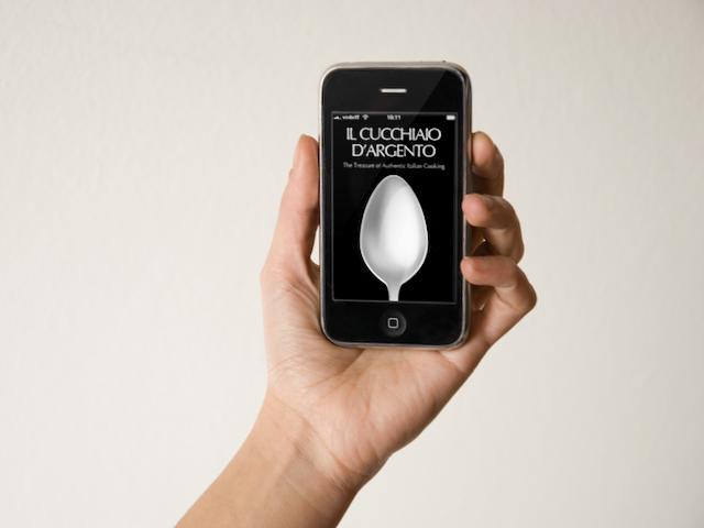 il Cucchiaio d'Argento, iPhone app - splash