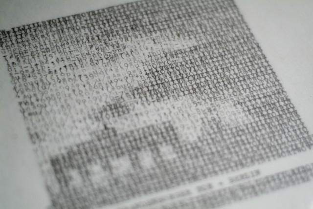 Type Painting: closeup